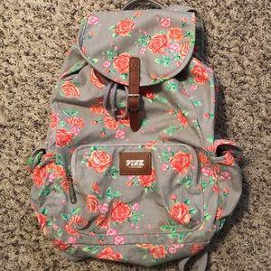 PINK Victoria's Secret Floral Backpack